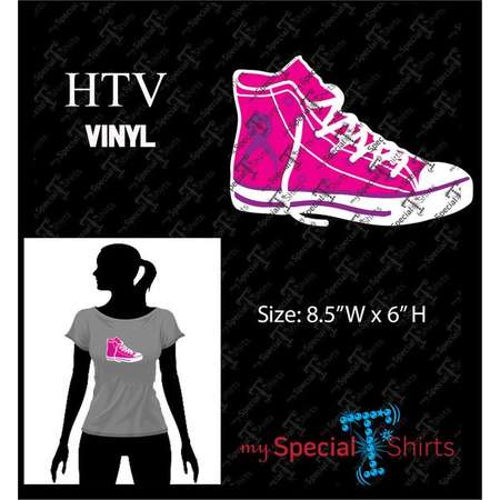 High Top Sneaker Male & Female Set and Awareness Ribbon, Instant Download Vector Design,  Digital Download (svg, dxf .eps) Cut file HTV thumb