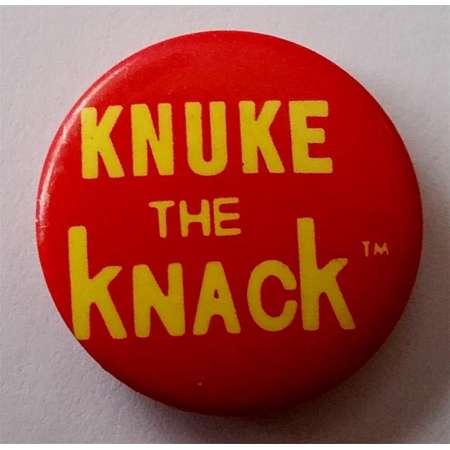 "THE KNACK Pinback Rare 1"" Knuke The Knack PROMO Only Vintage Button Badge Power Pop 1979 New Wave Punk Doug Fieger Joe Jackson The Cars thumb"