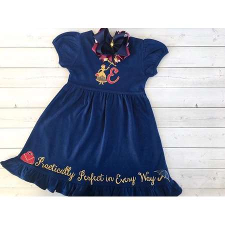 Mary Poppins Dress for Girls, Disney Dress for Girls, Girls Disney Dresses for Toddlers, Mary Poppins Outfit, Disney Outfit for Girls thumb