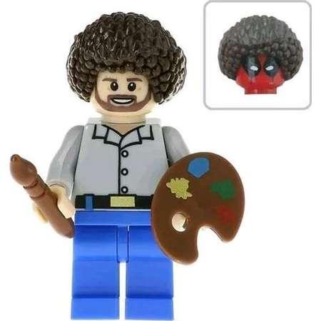 Deadpool Bob Ross Action Mini Figure Block Brick Set Comic Book Movie Toy Memorabilia Gift thumb