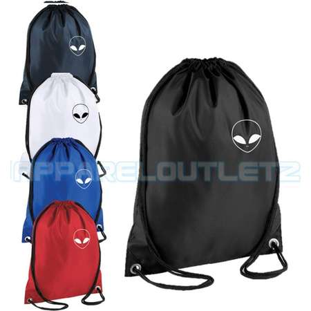 alien pocket logo drawstring backpack bag rucksack gym sports travel ufo swag dope hipster trend fashion new tumblr spaceship unisex thumb