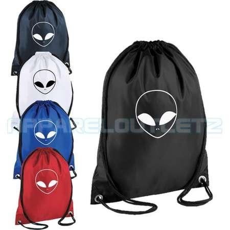 alien drawstring backpack bag rucksack gym sports travel ufo swag dope hipster trend fashion new tumblr spaceship unisex thumb