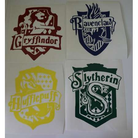 Harry Potter Inspired House Decals - House Crest Decal - Hogwarts Inspired Decal - Wizard Decal - Harry Potter Inspired Decal thumb