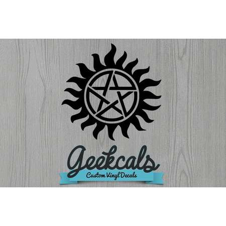 Supernatural Mark of Protection Pentagram Custom Vinyl Decal thumb