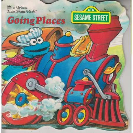 Golden Super Shape Book Sesame Street Going Places (Softcover, Children's)  1991 thumb