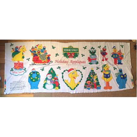 Vintage Sesame Street Holiday Appliques Panel Christmas Sesame Street thumb