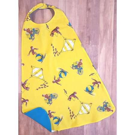 Curious George Cape, Curious George, Imaginary Play, Dress up, Pretend play, Costume, birthday gift thumb