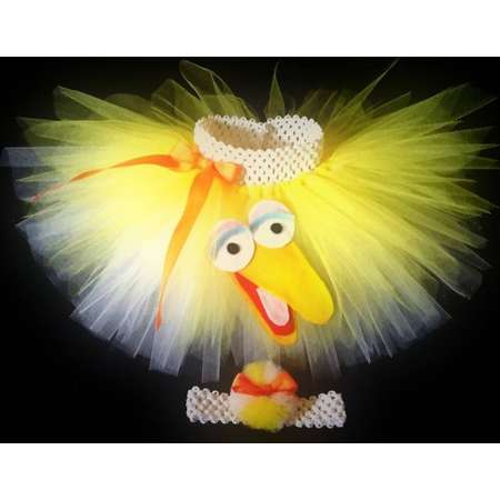 BanAnnaz Custom Crafts, Big Bird tutu, Big Bird costume, Big Bird birthday, Sesame Street tutu, Sesame Street costume, Sesame Street birthda thumb