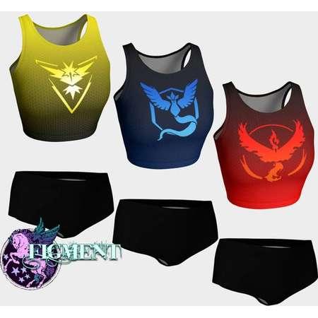 Pokemon Go Bikini - Team Mystic, Team Instinct, Team Valor, Pokemon Swimsuit, Cosplay Bikini, Pokemon Gift, Sexy Cosplay, Pokemon Cosplay thumb
