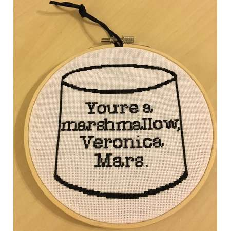 Veronica Mars Marshmallow cross stitch pattern thumb