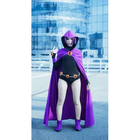 Raven from Teen Titans Go cosplay, costume, Teen titans go party, DC, Halloween, cartoon network, clothing, DC comics, Young justice thumb