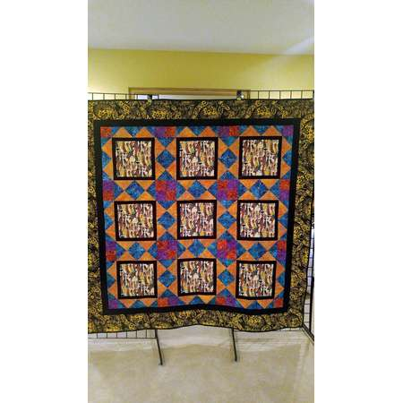 African quilt, African wall hanging, handmade African home decor, Wakanda forever quilt, ethnic quilt, African-American culture wall hanging thumb
