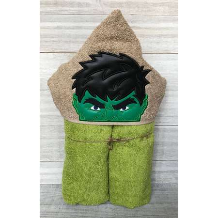 Personalized Hooded Towel, The Hulk Hooded Towel, Marvel Character hooded towel, Custom Present, Os First Most, The Incredible Hulk, thumb