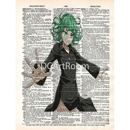 One Punch Man - Tornado of Terror - Vintage Dictionary Art Print -  Home Decor - Hang On Walls thumb