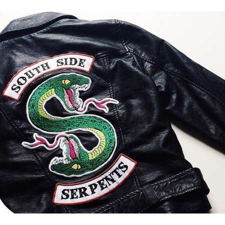 IRON ON PATCH Riverdale Jacket diy South Side Serpants Embroidery Halloween Patch Serpant Jughead Cole Sprouse Halloween Costume thumb