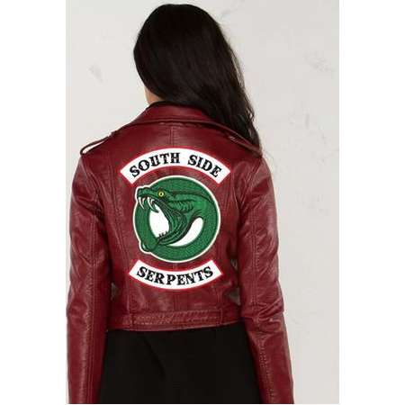IRON ON PATCHES Riverdale Jacket diy Toni Topaz Halloween South Side Serpants Embroidery Patch Jughead Cole Sprouse Halloween Costume thumb