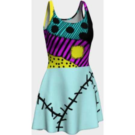 acc305cf7a0 Sally nightmare before christmas dress costume- Halloween dress - spooky  dress