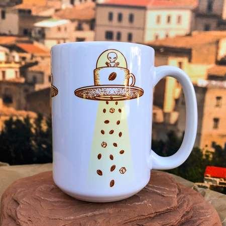 Alien Coffee Mug Invasion. 11oz or 15oz Coffee Mug. thumb