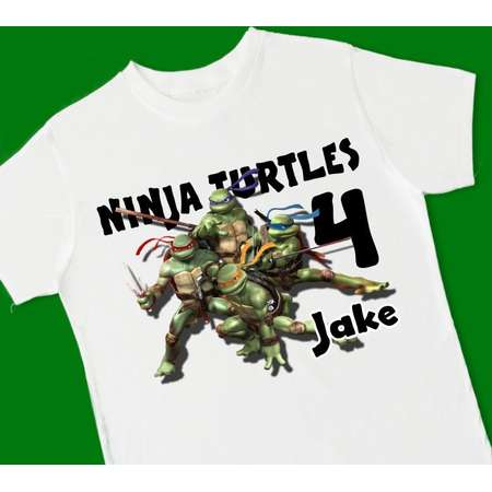 Teenage Mutant Ninja Turtles Birthday Tee. Birthday T-Shirt. Personalized with Name Age or Number. 1st 2nd 3rd 4th 5th 6th Birthday. (15024) thumb