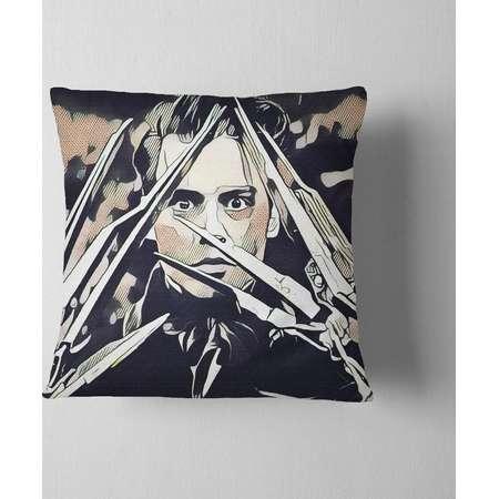 Edward Scissorhands Decorative Throw Pillow Cover Pillowcase Design Pillow Case Gift Home Theater Decor Movie Home Cinema Decor Johnny Depp thumb