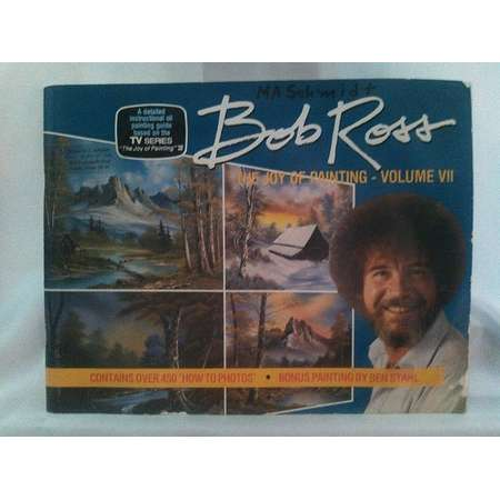 Vintage 1986 Bob Ross The Joy Of Painting Volume VII Contains Over 450 'How To Photos' Paperback Book thumb