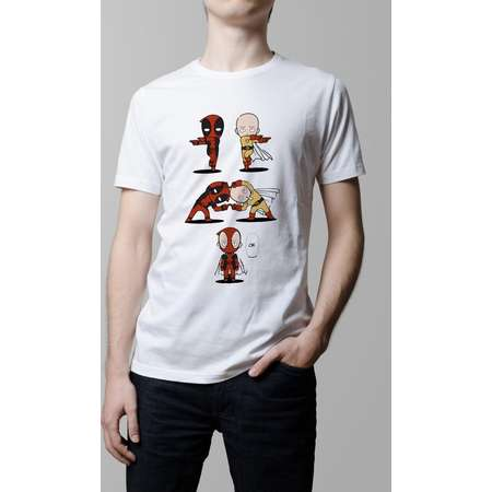 One Punch Man OPM Saitama Deadpool Fusion T-shirt. Male and Female Apparel thumb
