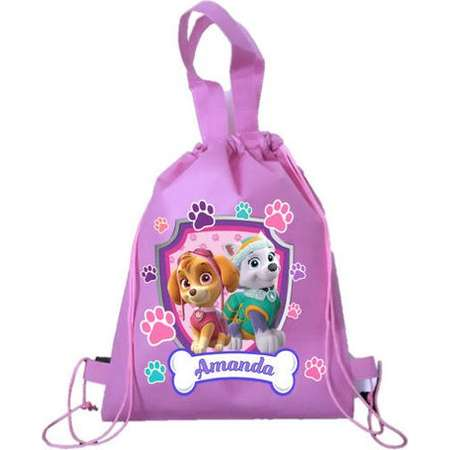 "Paw Patrol Party, Personalized  Pink Paw Patrol Backpack, Paw Patrol Favor Bags, Paw Patrol Backpack 12""x15"" inches thumb"
