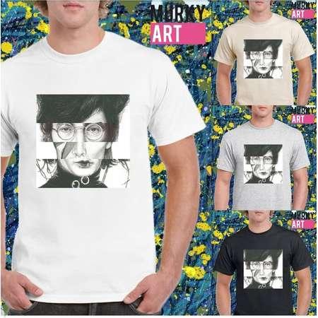 COLLAGE Amy Winehouse John Lennon David Bowie Edward Scissorhands Unisex MurkyArt T-shirt thumb