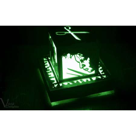 Edward ScissorHands inspired Color Changing Lantern with wall powered base thumb