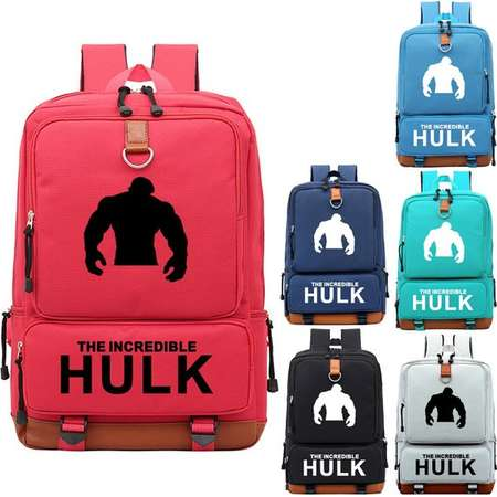 The Incredible Hulk Backpack, Fashion Student Backpack, Oxford Cloth Outdoor Travel Bag, Unisex Bag thumb