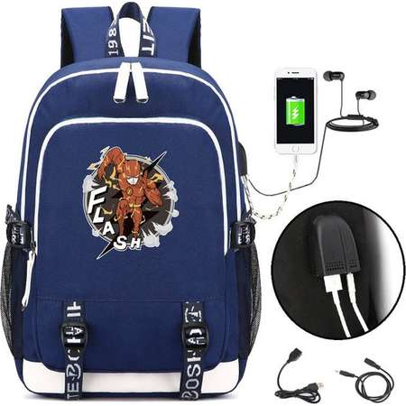 The Flash Backpack with USB Charging Port, Oxford Cloth Bag, College School Computer Bag for Men Women, Fits 15.7 Inches Laptop Notebook thumb