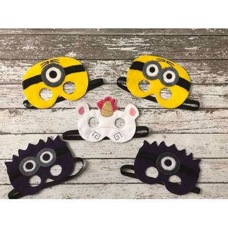 b66e250f648b Minion Inspired Masks Minions Costume Kids Masks Kids Costumes Minion Mask  Halloween mask Dress up mask Minion Party Despicable Me