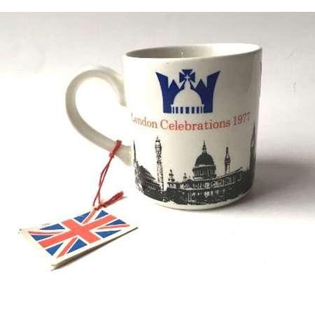 Adams The Queen's Silver Jubilee London Celebrations 1977 White Ironstone Mug thumb