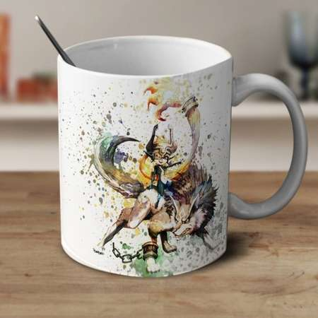 Midna and Link, Legend of Zelda Mug, Zelda Mug, Zelda Watercolor Mug, Zelda Coffee mug, Zelda Cup thumb