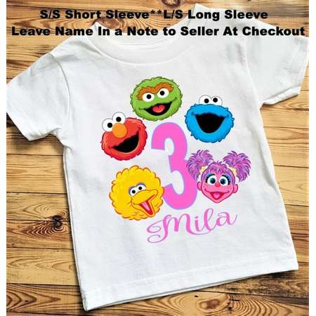 Sesame Street  Birthday Tee Shirt or Bodysuit; Bodysuit size 6-24 Month;Tee 2T and up; Long Sleeve Available Up To 5T thumb