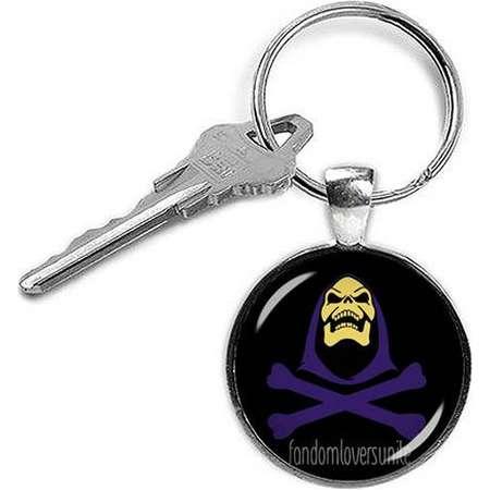 Skeletor Keychain Masters of the Universe Keyfob He Man Keychain Superheroes Fandom Jewelry thumb
