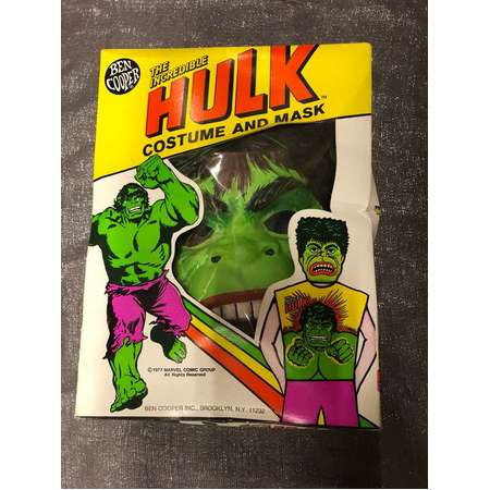 1978 BEN COOPER the incredible hulk childrens costume and mask thumb