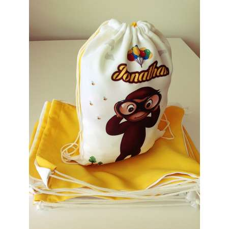 5Qty Curious George Favors Bag Birthday - Curious George party favors, Birthday Party, Custom Backpack, Favors candy 8''x12'' or 12'' 16'' thumb