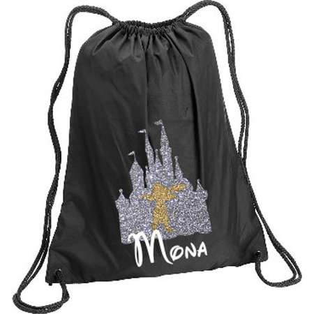 Moana in Castle Personalized bag, Moana in Castle Backpack, Disney Kids backpack, Family Vacation Cinch Sack, Moana in Castle Cinch thumb
