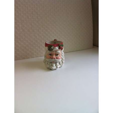 Santa Mug OMNIBUS by Fitz and Floyd China Copyright 1995 Hot Chocolate Hot Coco Replacement Cup  Christmas Decoration Gift Planter Vase thumb