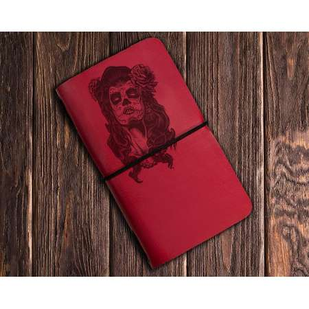 Day of The Dead Notebook - Skull Jotter - Halloween Notebook - Skull Art - COCO notebook - Dia de los muertos notebook thumb