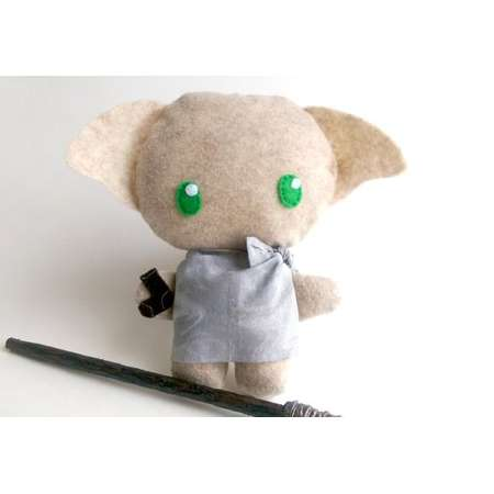 Dobby, Harry Potter, pillow, plushie, cushion, stuffed toy, kawaii, wizard toy,  Hogwarts, magic, elf, house elf ***WAND NOT INCLUDED*** thumb