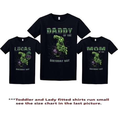 The Incredible Hulk Birthday Shirt, Hulk Custom Shirt, Personalized Hulk Shirt, Hulk family shirts, Birthday t-shirt for girls and boys thumb