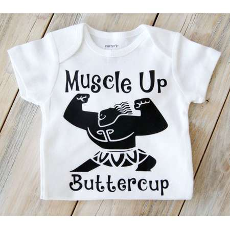 0337f9814 Muscle Up Buttercup-Maui Demi God Bodysuit-Moana-Disney-Baby Girl  Bodysuit-Custom Bodysuit-Baby Girl Clothing- Moana - Maui - Toddler