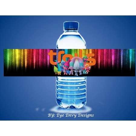 Trolls Water Bottle Labels thumb