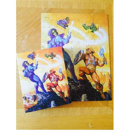 Vintage Masters of the Universe 1983 He Man 100 piece jigsaw puzzle Skeletor thumb