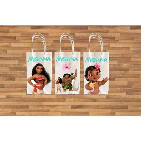 Moana Favor Bags/ Maui Favor Bag/ Moana Printables/ Moana party bag/ Maui/ Instant Download/ Moana & Maui thumb