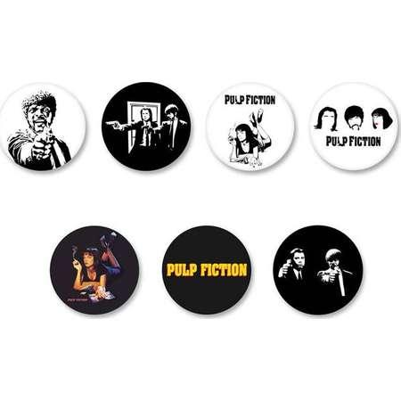 Lot Pins Ø25mm - o38mm Pinback Button Badge / Magnet o38mm Pulp Fiction thumb