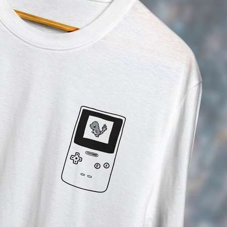 d4f08287 Pokemon Red Charmander Sprite Japanese Gameboy Eyes Gamer T-Shirt thumb