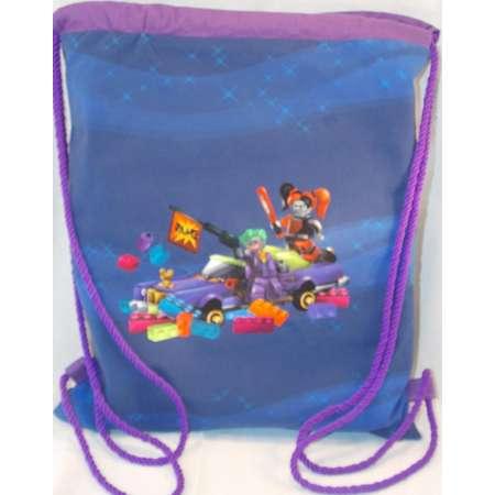 580b011e1a08 Wonderfully Whimsical Lego Batman Harley Quinn Joker Drawstring Backpack Bag  RTS thumb